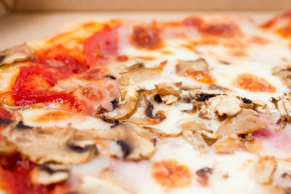 Pizza s hubami |
