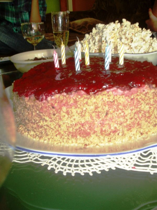 Malinovo-mascarponová torta |