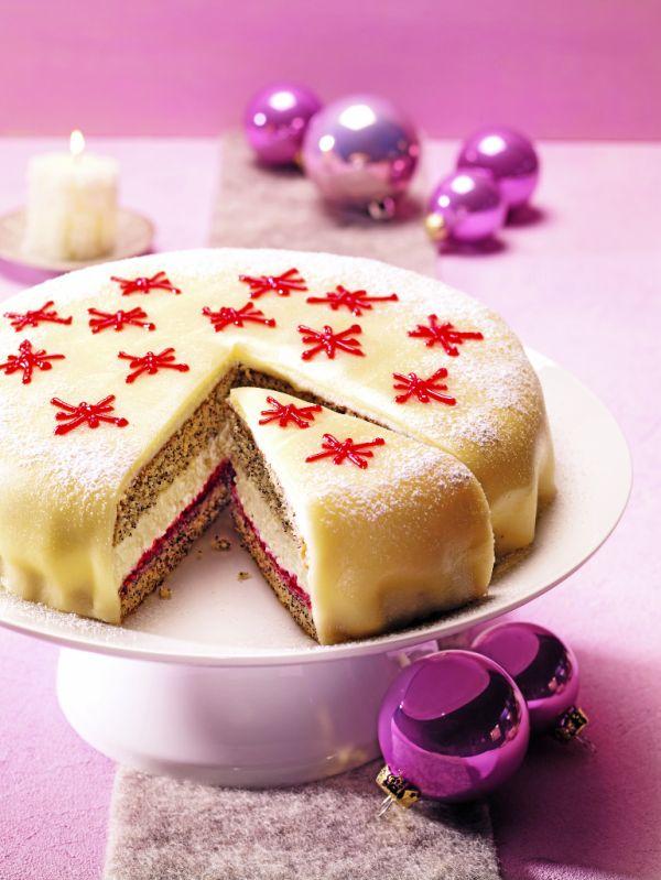Luxusná makovo-marcipánová torta |