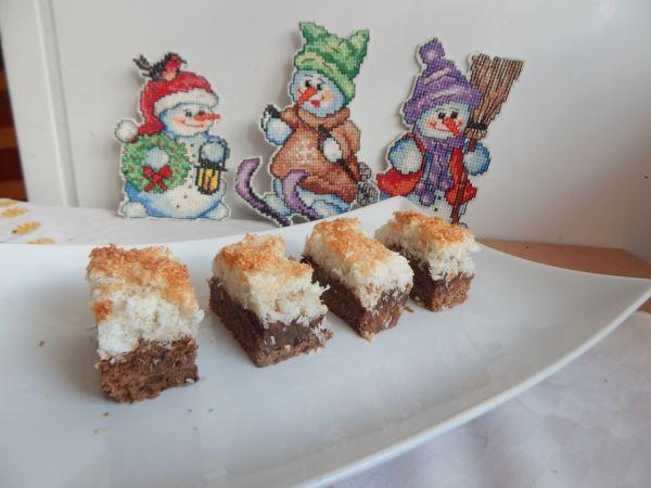 Čokoládové kokosové rezy |
