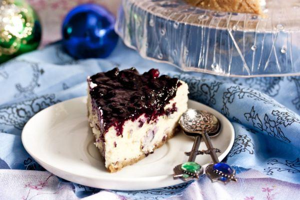 Karamelový cheesecake s čučoriedkami |