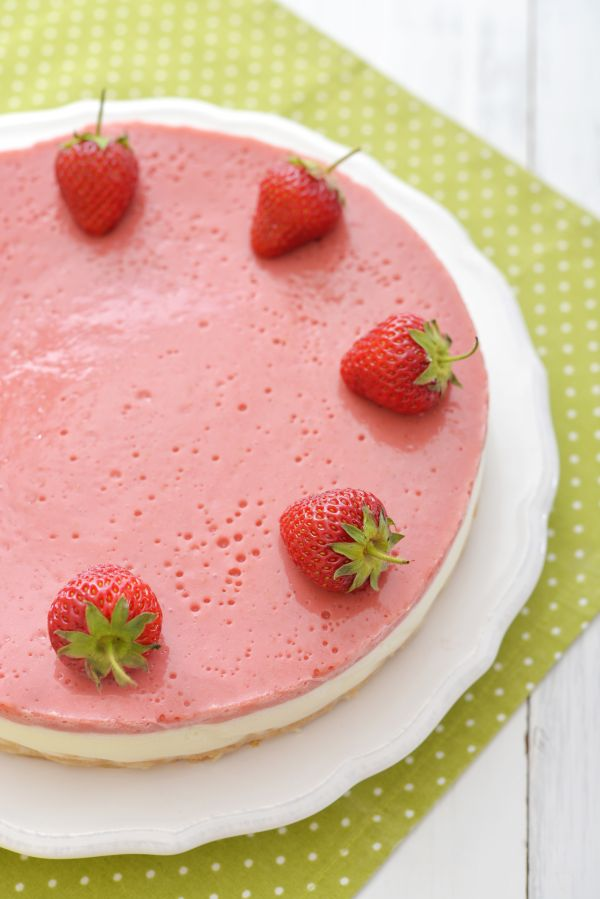 Tvarohová torta s jahodami |