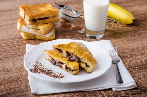 Francúzske toasty s banánom a Nutellou |