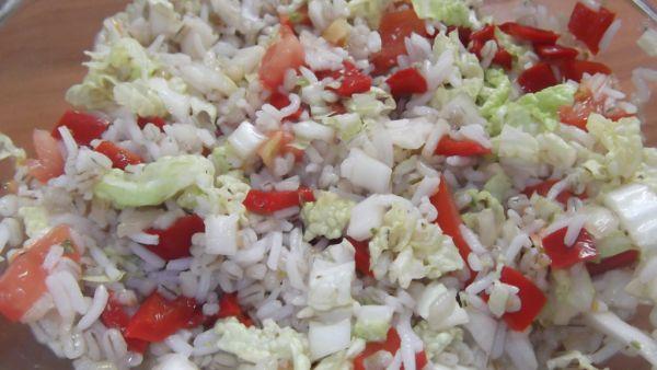 Krúpovo-ryžový zeleninový šalát |