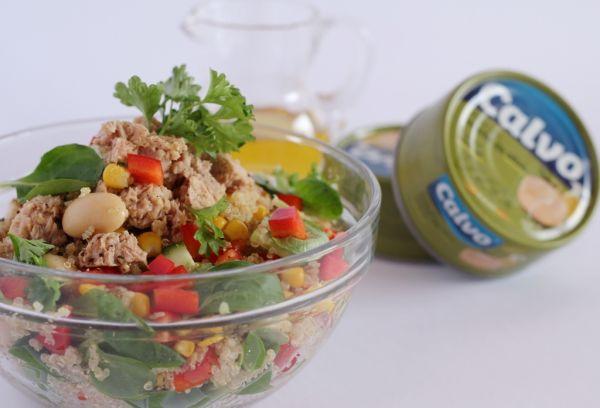 Energický quinoa šalát s tuniakom |