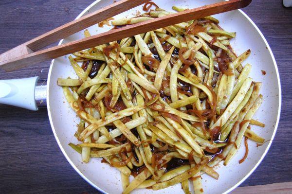 Pikantné zelené fazuľky po čínsky |