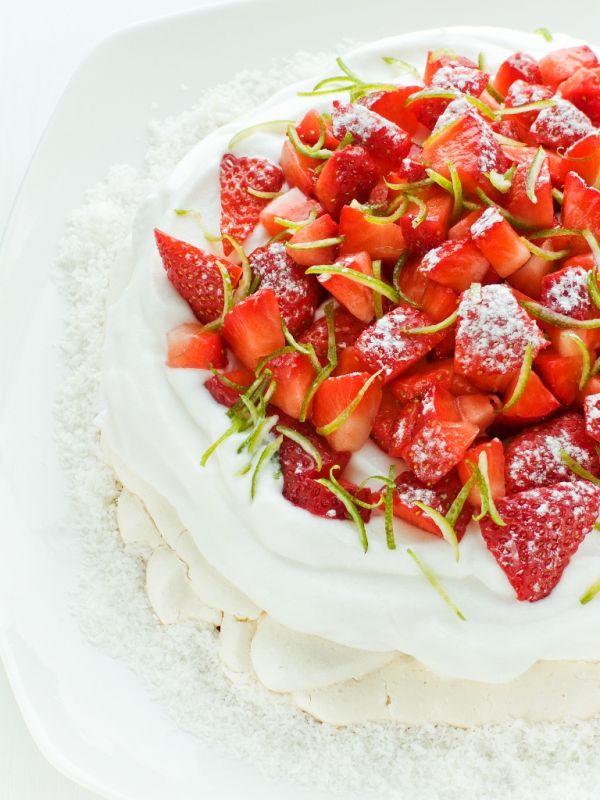 Torta Pavlovová s vanilkovým krémom |