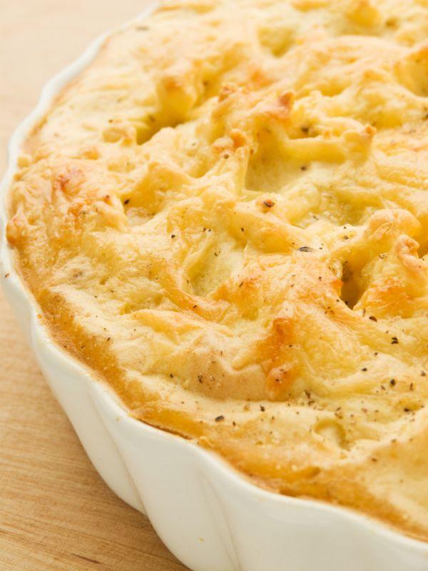 Zapečená zemiaková kaša s pórom |