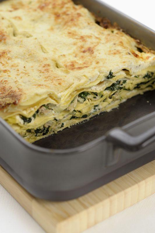 Tuniakové lasagne so špenátom |