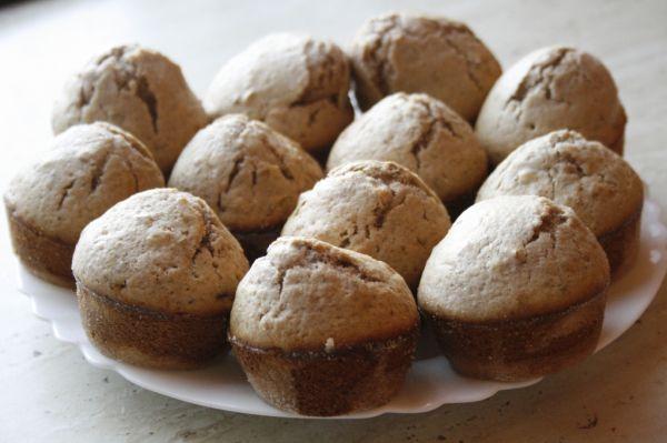 Škoricovo-orechové muffiny |