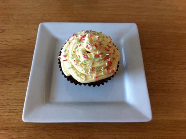 Vanilkové cupcakes s vanilkovým krémom |