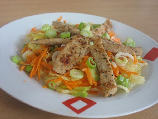 Zeleninový šalát s morčacím mäsom |
