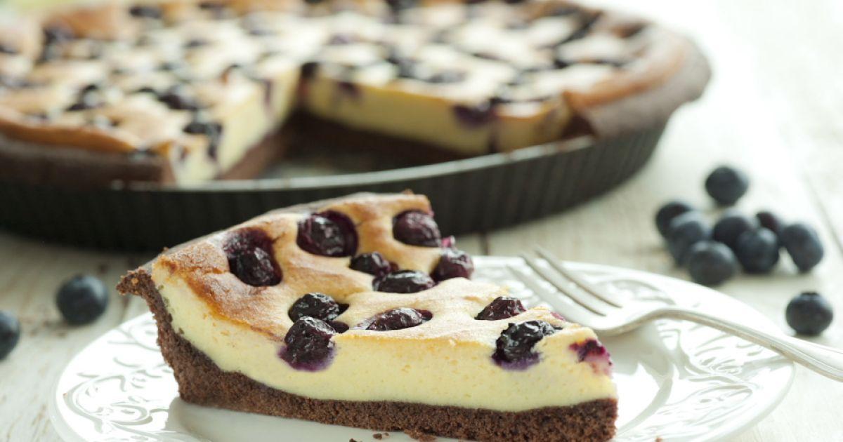 Tvarohový cheesecake s čučoriedkami, fotogaléria 1 / 1.