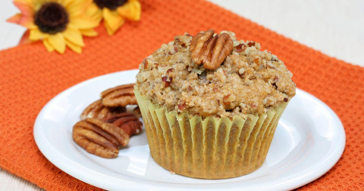 Ovsené muffiny s posýpkou z pekanových orechov, fotogaléria 1 / 1.