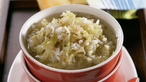 Kelová polievka s ryžou |