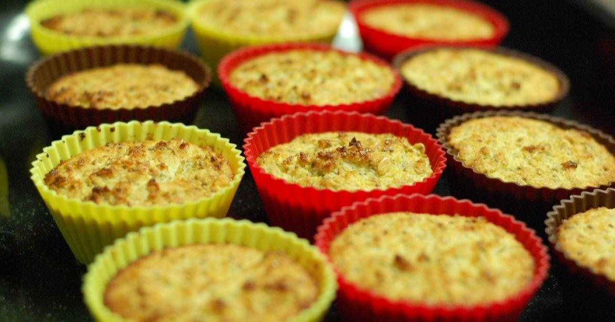 Citrónovo-kokosové muffiny s chia semienkami ...