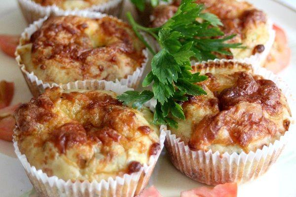 Cuketové muffiny so syrom |