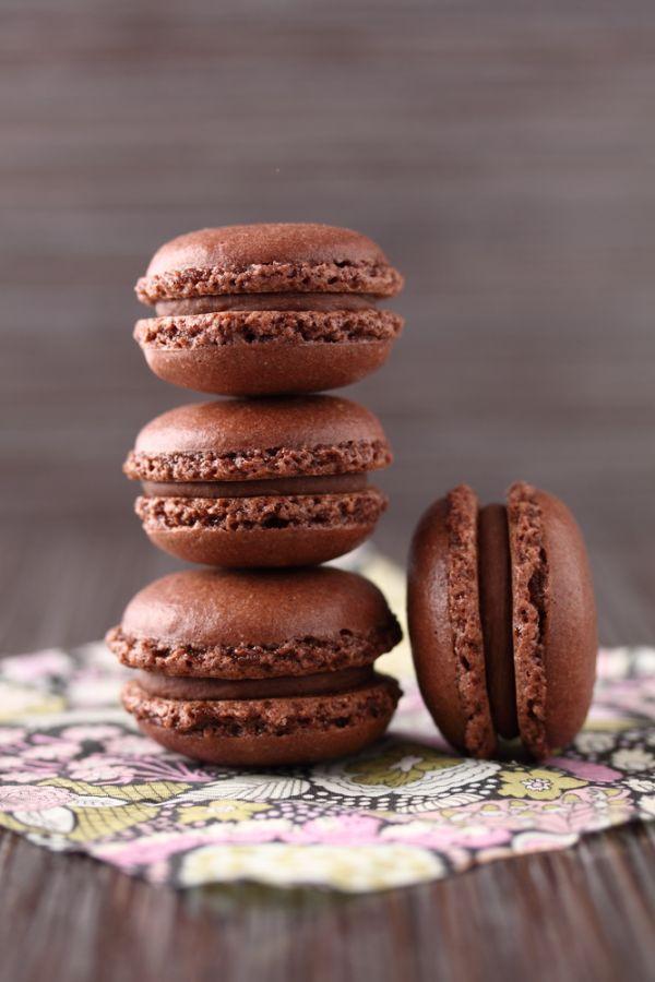 Čokoládové macarons |