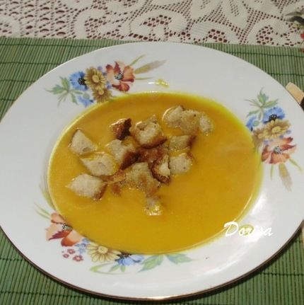 Krémová polievka z tekvice Hokaido |