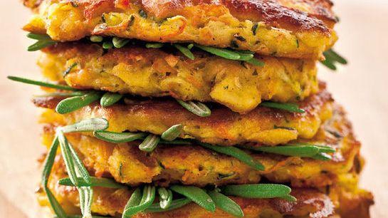 Cuketovo-mrkvové placky so syrom |