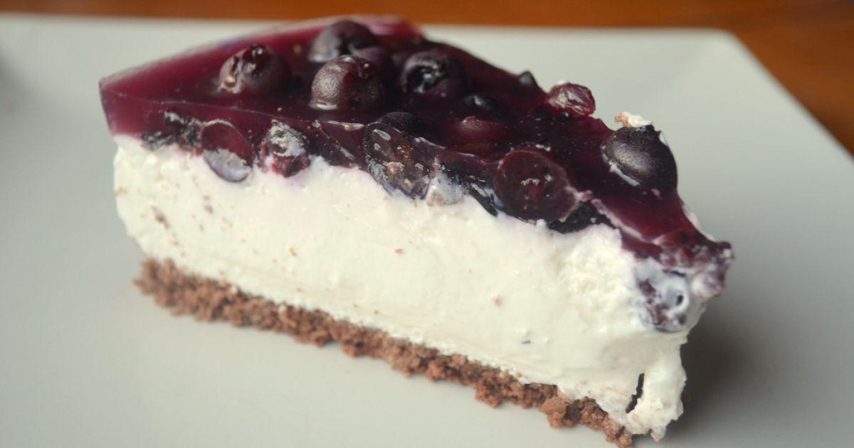 Čučoriedkový cheesecake, fotogaléria 1 / 8.