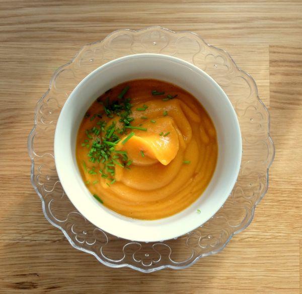 Batatovo – karfiolový krém ako polievka  