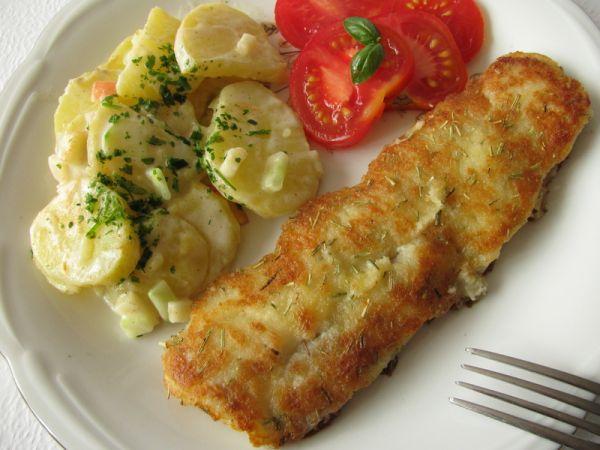 Rybie filety so zemiakmi |