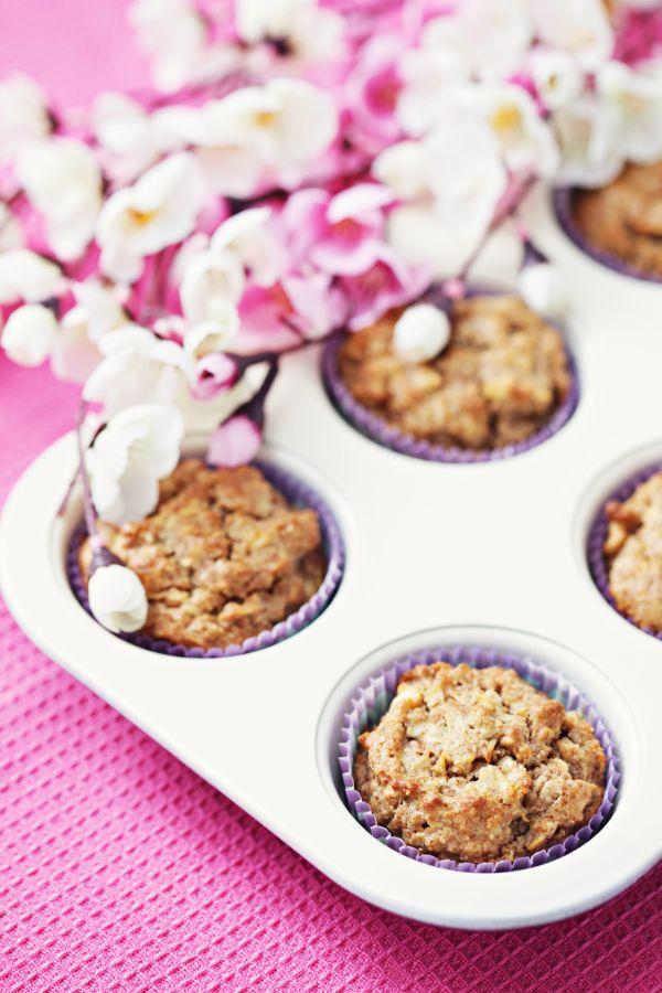 Jablkové muffiny so zázvorom a posýpkou |
