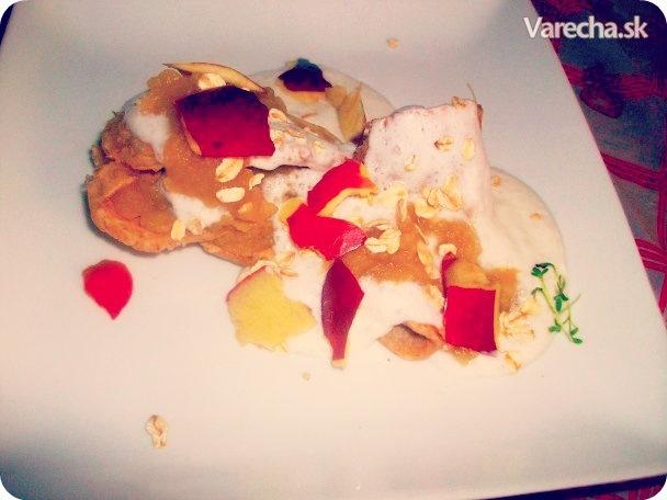 Zdravé palacinky s jabĺčkovou plnkou (fotorecept)  Recept