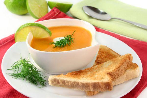 Krémová polievka s údenou rybou |