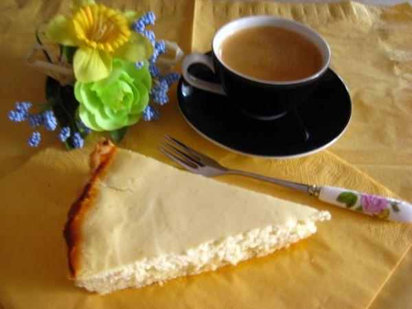 Tvarohovo limetkový koláč |
