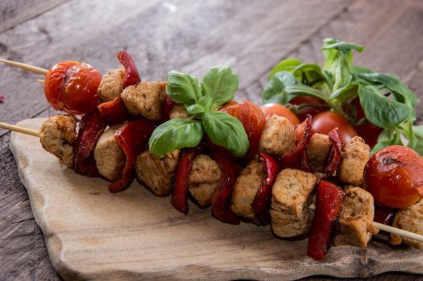 Morčacie špízy s paradajkami |