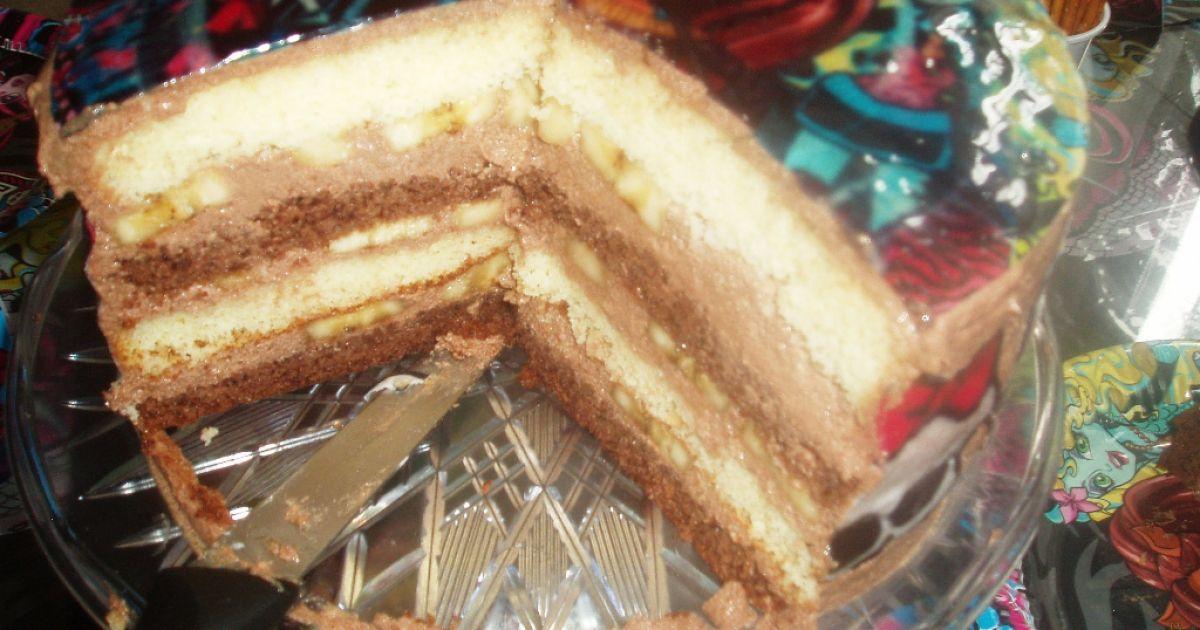 Čokoládovo-banánová Monster high torta, fotogaléria 1 / 1.
