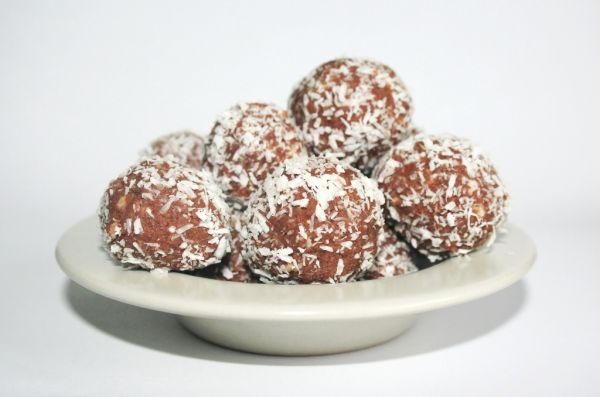 Kokosové guľky s kakaom |
