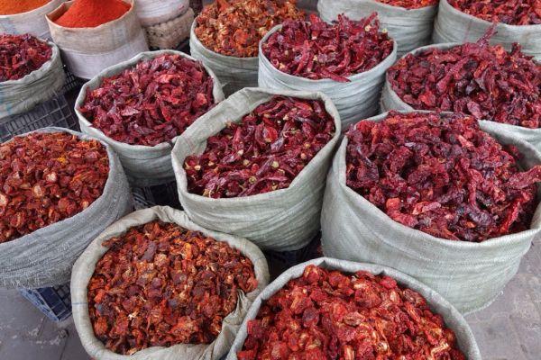 Sušená červená paprika |
