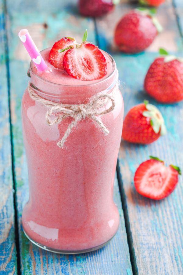 Zdravé jahodové smoothie |