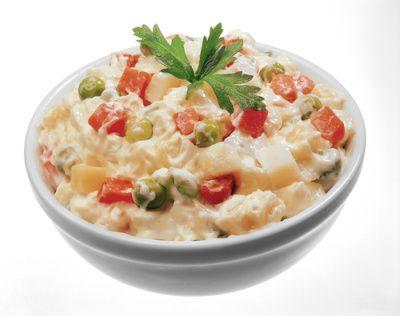 Zemiakový šalát s majonézou |