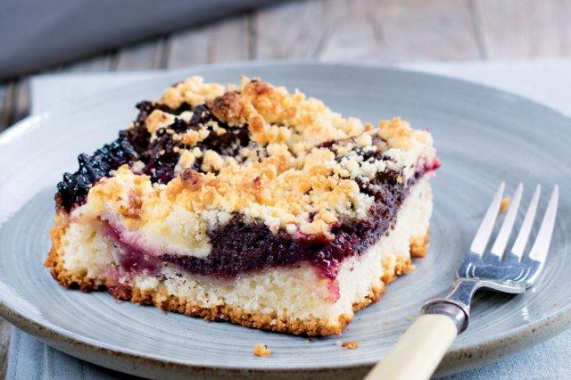 Tvarohovo-makový koláč (Kleckselkuchen)