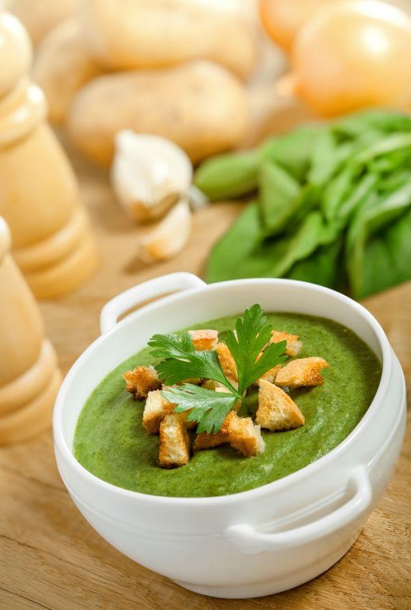 Krémová špenátová polievka |