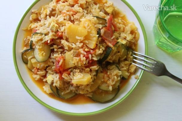 Letné rizoto s ananásom  Recept