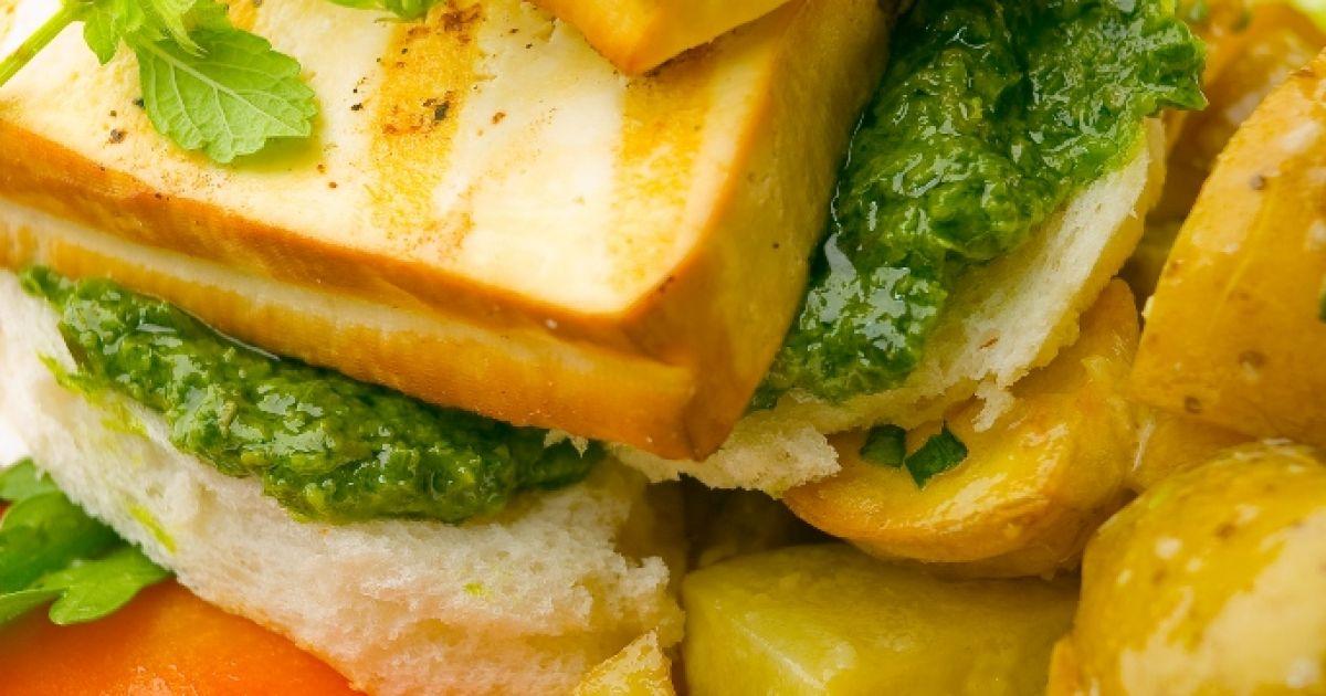 Tofu s pestom a zemiakmi, fotogaléria 1 / 1.