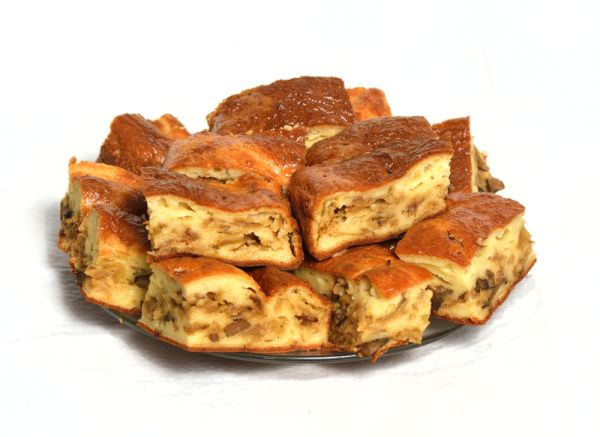 Zemiakový koláč s hubami |