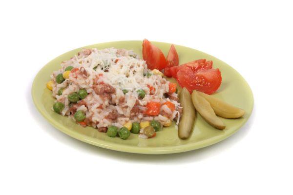 Zeleninové rizoto s mäsom |