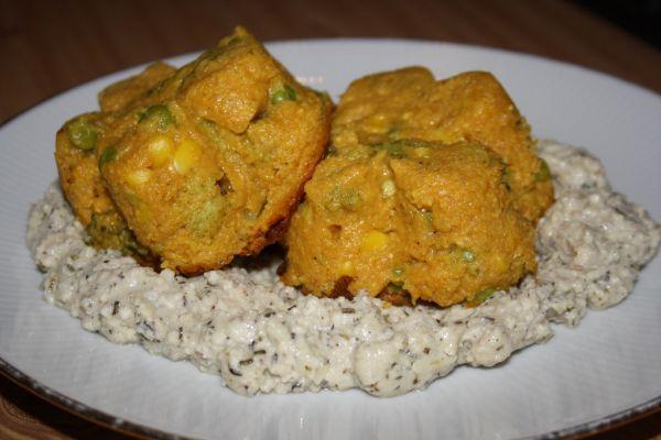 Polentovo-zeleninové kvietky  