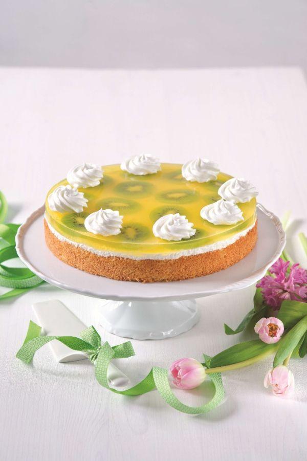 Jarná šumienková kiwi torta |