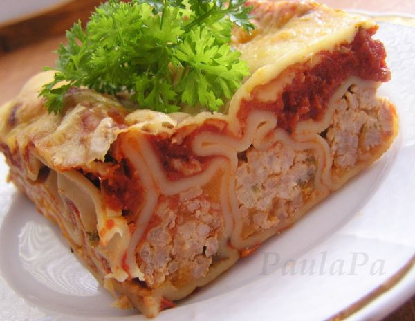 Cannelloni zapečené v paradajkovej omáčke ...