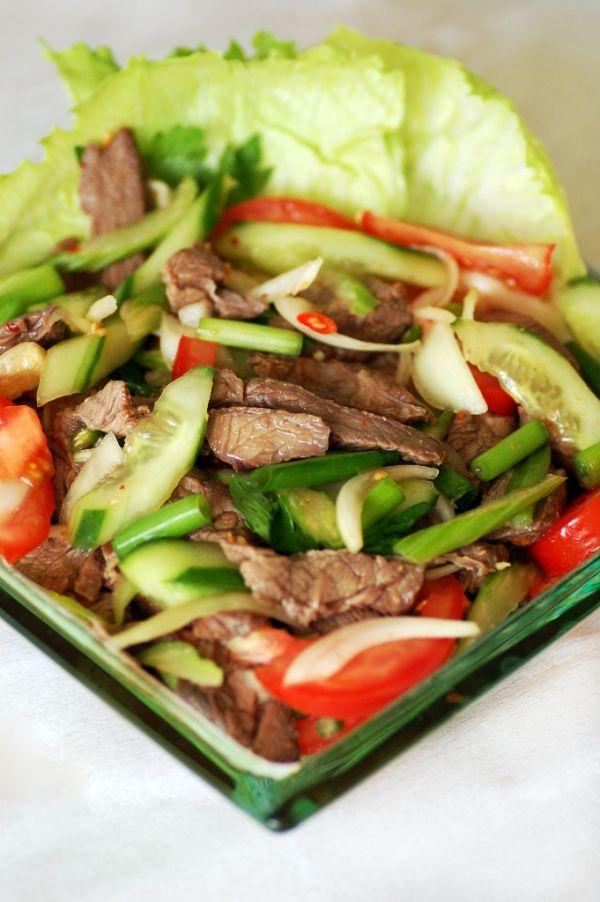 Thajský šalát s hovädzím mäsom |