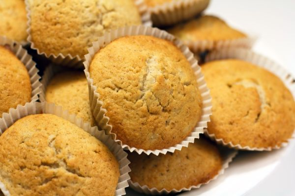 Banánové muffiny so sušienkovým maslom |