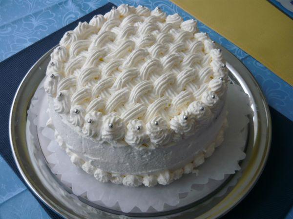Torta čierno  biela |