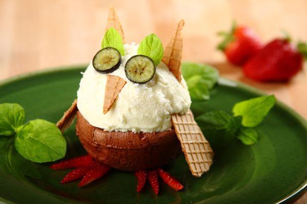 Zmrzlinový dezert Sova |